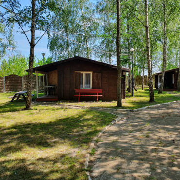 Domki letniskowe nad jeziorem Krzemień