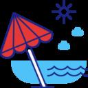 Dla gości kempingu dostęp do plaży z molem nad jeziorem