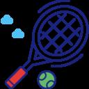 Tennisplatz und Tischtennis